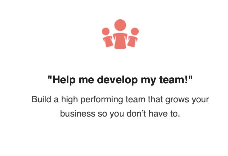 Help me develop my team